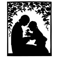 mother-child-silhouette